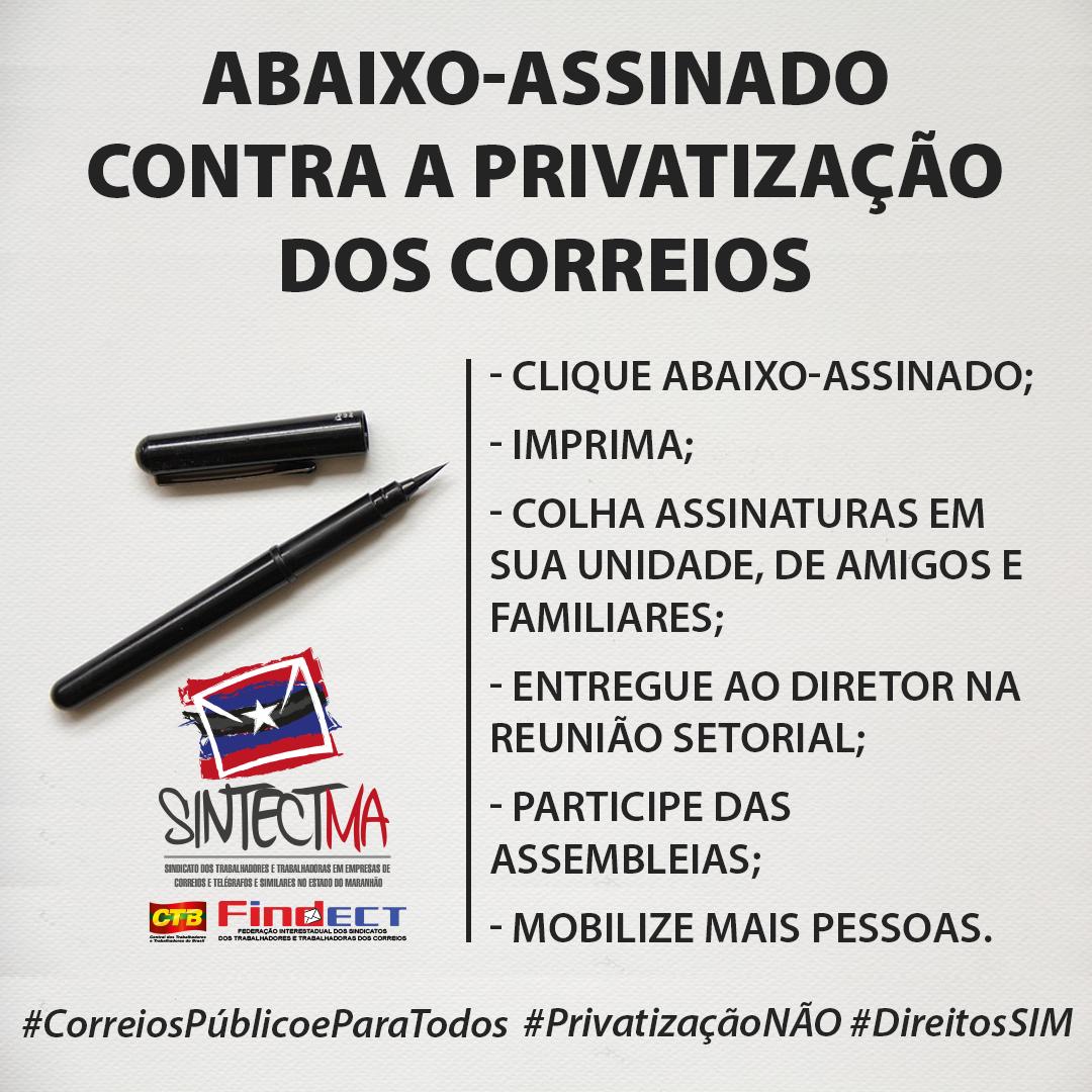ABAIXO ASSINADO NACIONAL EM DEFESA DO CORREIOS PÚBLICO