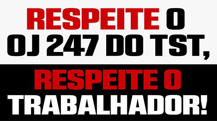PARECER SOBRE DEMISSÃO MOTIVADA – OJ 247 TST