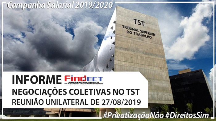 INFORMATIVO SOBRE A REUNIÃO DE NEGOCIAÇÕES DO ACT 2019/2020 DE 27/08/2019