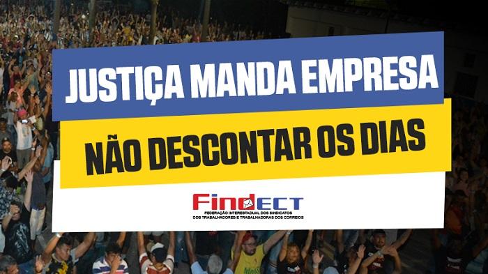 TST ACEITA PEDIDO DA FEDERAÇÃO E MANDA ECT NÃO DESCONTAR OS DIAS PARADOS!
