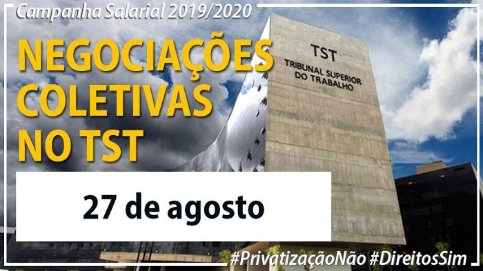 FINDECT É CONVIDADA PARA REUNIÃO NO TST NA TERÇA, 27/08