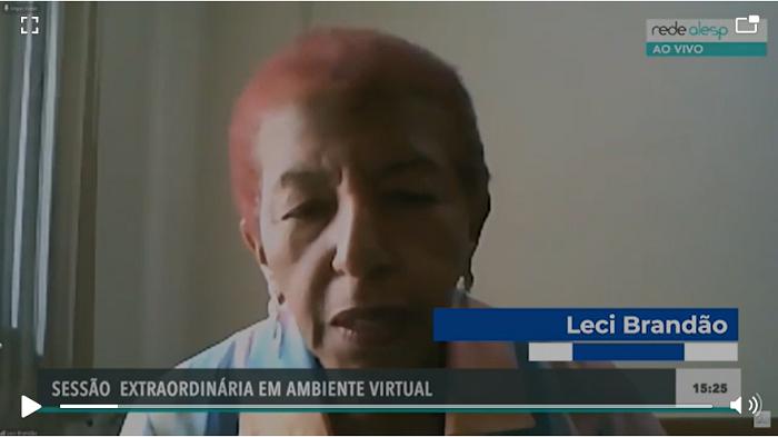 DEPUTADA LECI BRANDÃO DENUNCIA A FALTA DE EPIS…