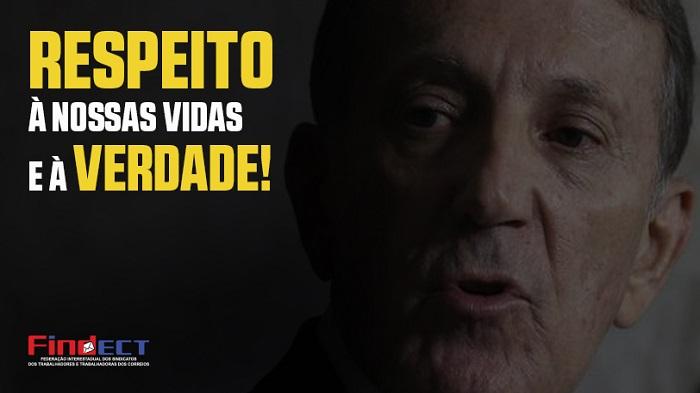 EXIGIMOS RESPEITO À VIDA DO TRABALHADOR E À VERDADE!