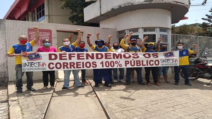 GALERIA DE FOTOS: TRABALHADORES DOS CORREIOS DOAM SANGUE NO HEMOMAR