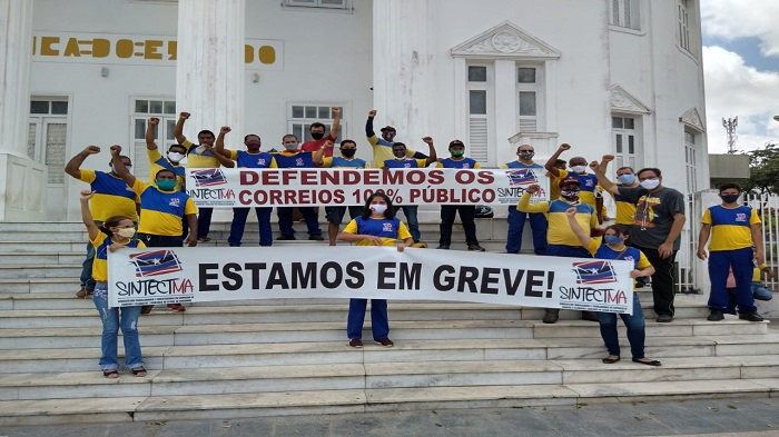 ATO EM SÃO LUÍS MARCA OS 23 DIAS DE GREVE DOS TRABALHADORES DOS CORREIOS