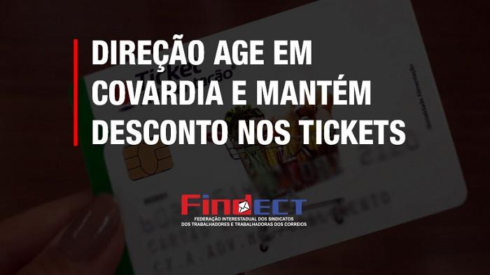 DIREÇÃO DA ECT AGE DE COVARDIA E MANTÉM DESCONTOS NOS TICKETS