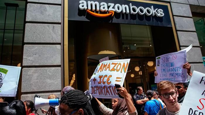 TRABALHADORES DA AMAZON ORGANIZAM PROTESTO MUNDIAL