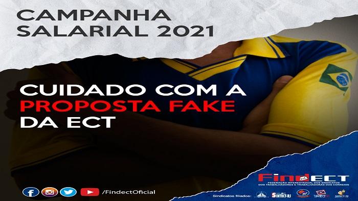 CAMPANHA SALARIAL 2021/2022: DIREÇÃO DA ECT DIVULGA PROPOSTA INEXISTENTE PARA CONFUNDIR E DIVIDIR A CATEGORIA