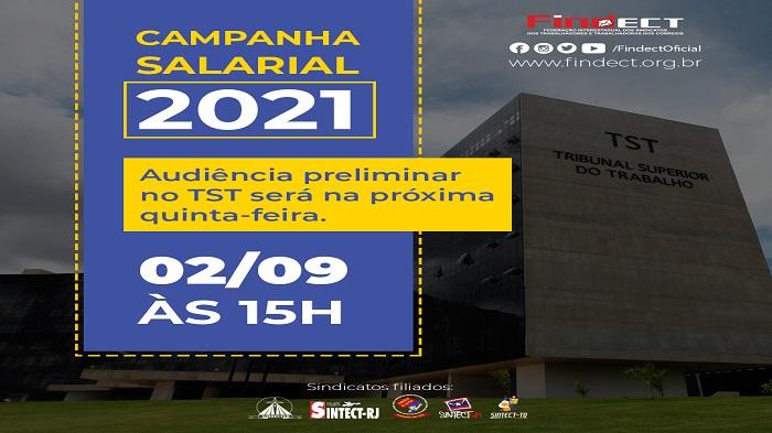 AUDIÊNCIA PRELIMINAR NO TST SERÁ NA PRÓXIMA QUINTA-FEIRA,02/09 ÀS 15 H