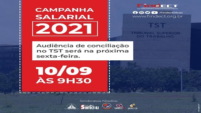 SINDICATOS FILIADOS À FINDECT PARTICIPAM DE AUDIÊNCIA DE CONCILIAÇÃO NO TST NA SEXTA-FEIRA(10)